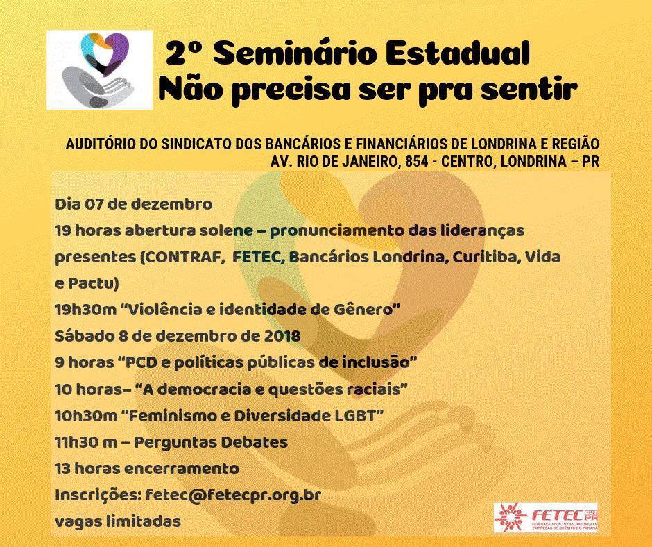 FETEC/PR promove seminário sobre igualdade de oportunidades em Londrina