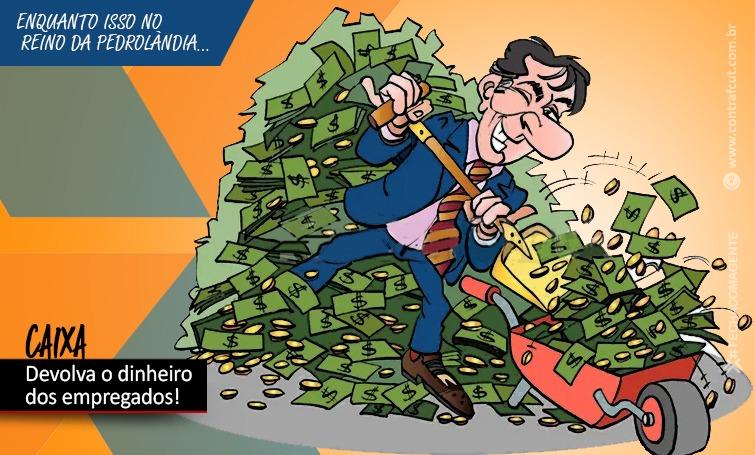 Caixa desconta da PLR de empregados valores de dívidas com o banco