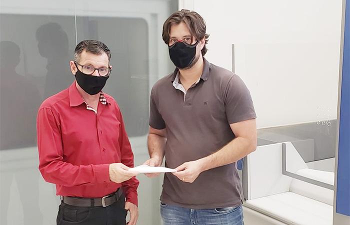 Bancários da base de Cornélio Procópio receberam brindes do evento do dia 27/08