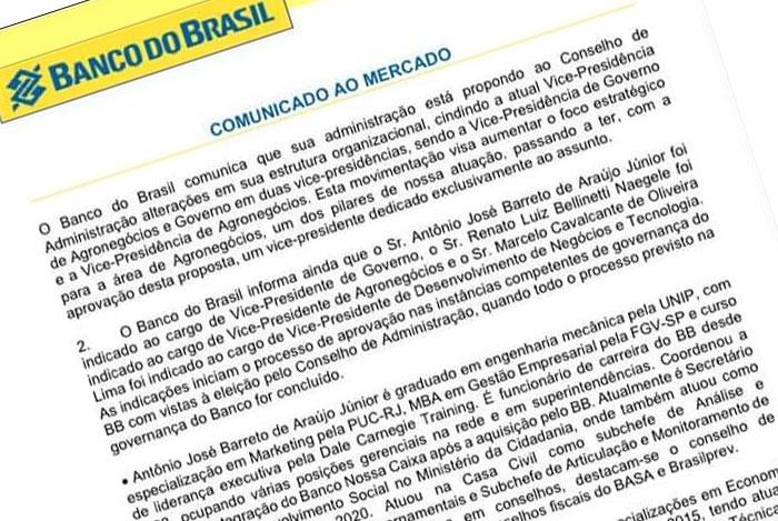 Em meio ao desmonte, Banco do Brasil aumenta número de Vice-presidências