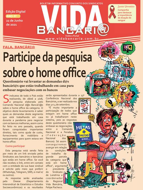 Vida Bancária divulga pesquisa sobre o home office