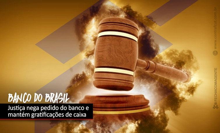 Justiça mantém gratificações de caixa para funcionários do Banco do Brasil