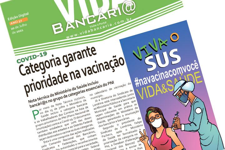 Jornal desta semana informa sobre vacinação contra a Covid-19 para bancári@s