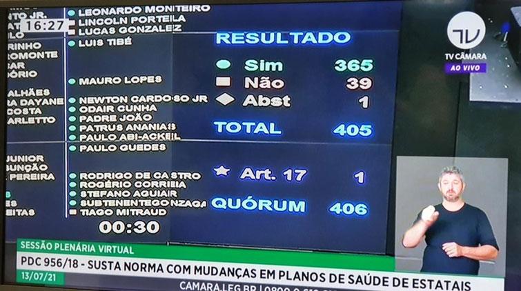 Câmara dos Deputados aprova PDC 956 que suspende a CGPAR 23