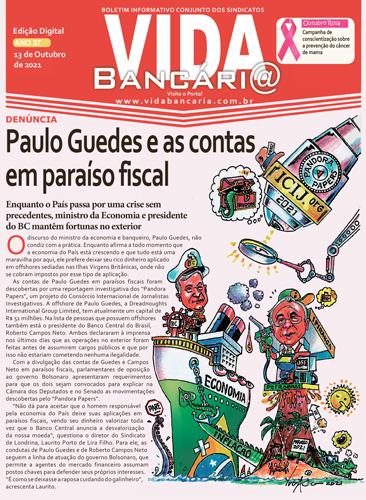 Vida Bancária aborda denúncia sobre contas de Paulo Guedes em paraíso fiscal