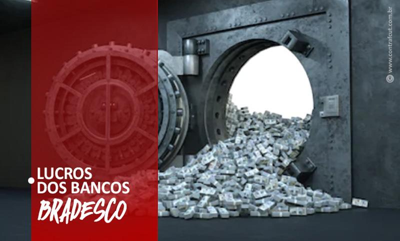 Bradesco lucra mais de R$ 12 bilhões no primeiro semestre de 2021