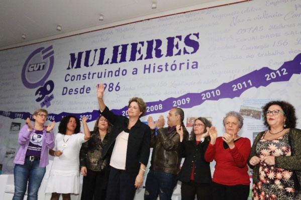 A presidenta eleita, Dilma Rousseff, destacou a importância da luta das mulheres da CUT iniciada há 30 anos