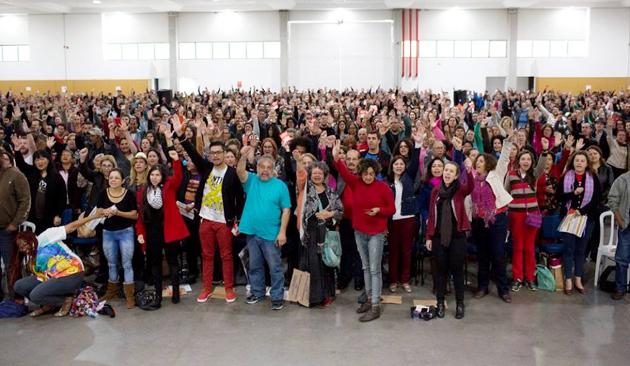 A Assembleia Geral da APP Sindicato reuniu mais de 3 mil pessoas ontem (31/10), em Curitiba