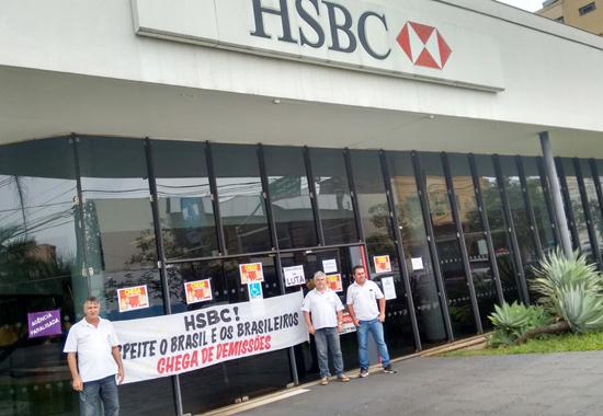 Sindicato de Londrina cobra respeito e manutenção dos empregos no HSBC