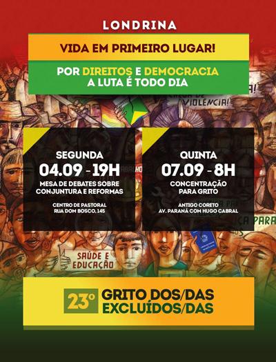 Debate dia 4/09 em Londrina aborda conjuntura do País e reformas