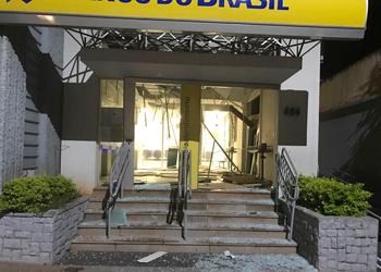 As explosões destruíram mais uma agência do Banco do Brasil neste mês