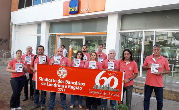 O Sindicato de Londrina realiza atividade nesta quinta-feira (13/04) para distribuir o Jornal do Cliente à população