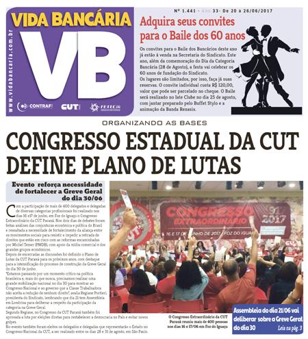 Vida Bancária destaca deliberações do Congresso da CUT/PR