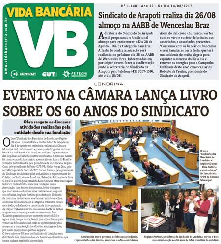 Edição desta semana divulga lançamento do livro sobre 60 anos do Sindicato de Londrina