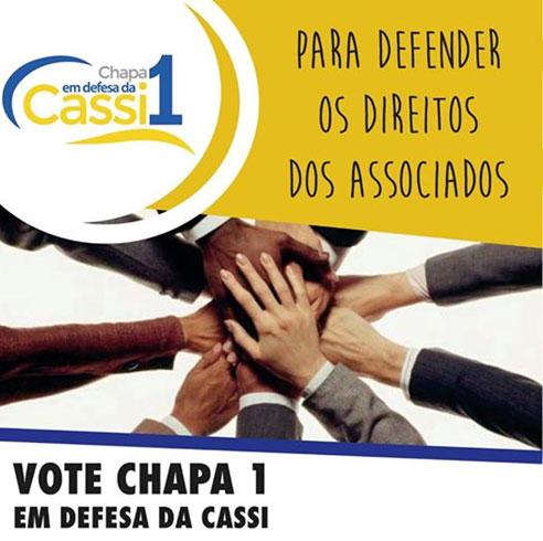 Começa a votação dos representantes dos funcionários na Cassi. Vote Chapa 1
