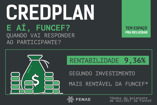 Participantes aguardam resposta da Funcef sobre taxas do Credplan