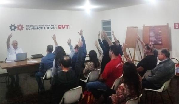 A Minuta de Reivindicações foi aprovada por unanimidade na Assembleia do Sindicato de Arapoti