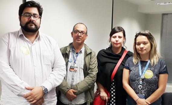Dirigentes da Contraf-CUT participaram do evento na Caixa e cobraram a ampliação do debate sobre a saúde dos empregados em todo o País