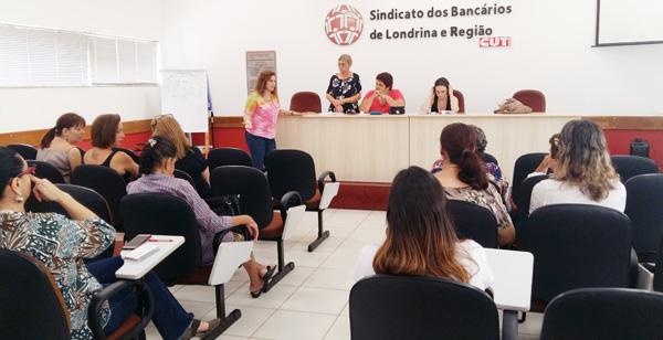 Regiane Portieri, presidenta do Sindicato de Londrina, saudou as conselheiras dos Direitos da Mulher
