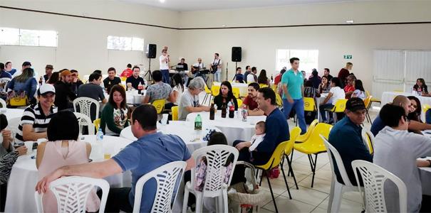 O salão da AABB de Wenceslau Braz sediou mais uma edição do Almoço do Sindicato de Arapoti