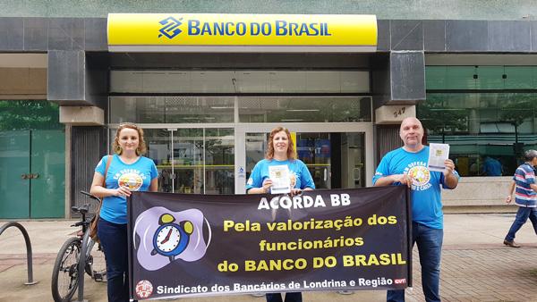 As atividades em Londrina defenderam a manutenção do papel do BB e a valorização dos seus funcionários