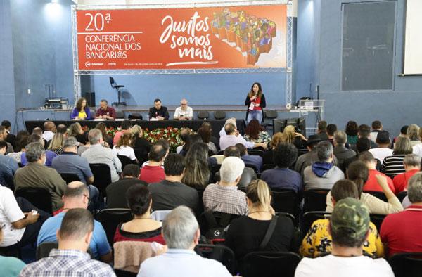 Resultados da Consulta serviram de base para debates na 20ª Conferência Nacional dos Bancários - Foto: Jailton Garcia