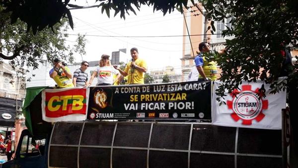 Os protestos ocorreram em todos os lugares em que existem subsidiárias da Eletrobras