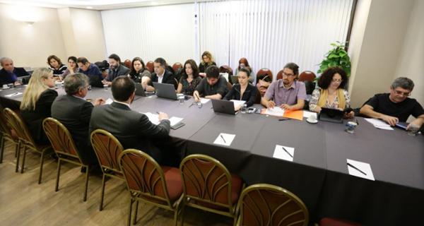 Comissão de Empresa reafirmou que funcionários não aceitam retirada de direitos - Foto: Jailton Garcia/Contraf-CUT