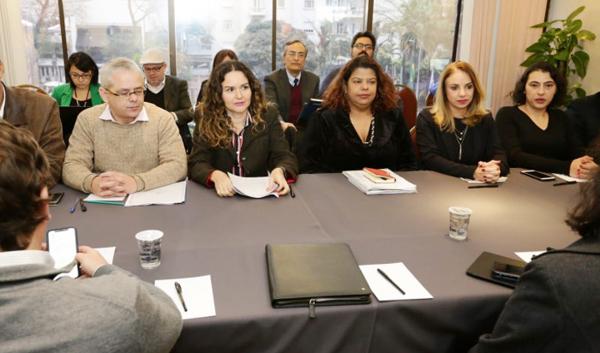 Integrantes do Comando disseram que próxima rodada só terminará quando for apresentada uma proposta decente na mesa - Foto: Jailton Garcia/Contraf-CUT