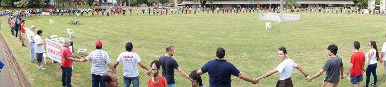 Atividade realizada em Londrina no dia 1º de Maio foi realizada no Centro Cívico