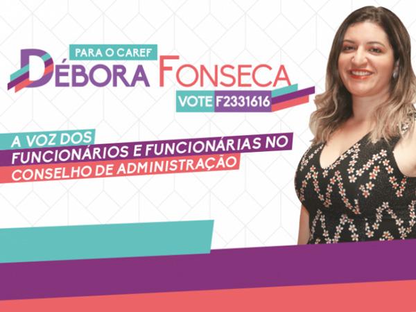O segundo turno da eleição do Caref ocorrerá entre os dias 25 e 31/01 - Vote Débora Fonseca!