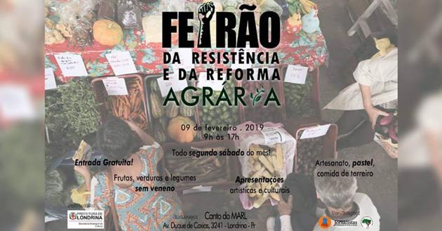 O Feirão da Resistência é uma oportunidade para adquirir produtos orgânicos e valorizar as obras de artistas da Região de Londrina