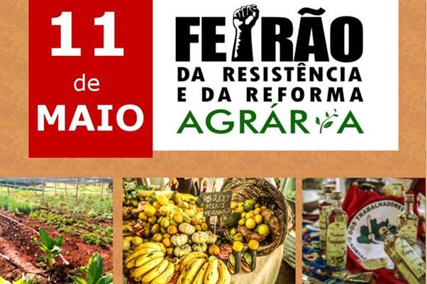 Sábado (11) tem Feirão da Resistência com alimentos saudáveis e muito mais