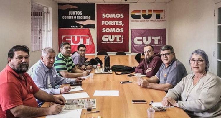 A reunião das Centrais Sindicais foi realizada dia 27/11, na sede da CUT, em Curitiba