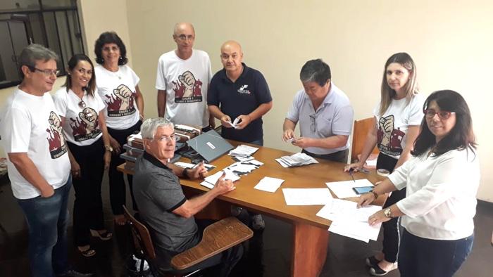 Na apuração, foram computados 230 votos para  a Chapa Unidade e Resistência e apenas um em branco