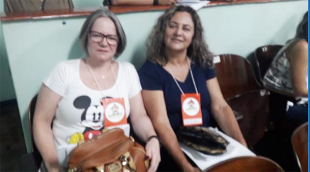 Regina Ferreira de Souza e Dulce Silveira, representaram o Sindicato de Londrina e a CUT Paraná na Conferência