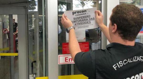 A interdição da agência Praça Willie Davis ocorreu na manhã desta quinta-feira (21)