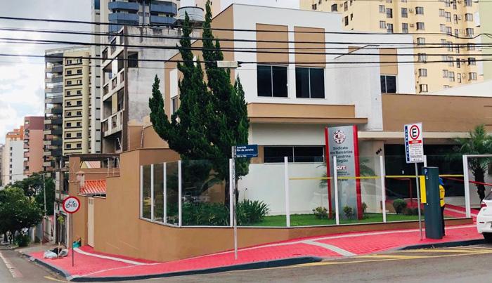 O prédio próprio do Sindicato recebeu pintura nova nas áreas interna e externa