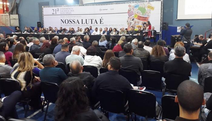 Bancários e bancárias de todo o País participam da 21ª Conferência Nacional em São Paulo