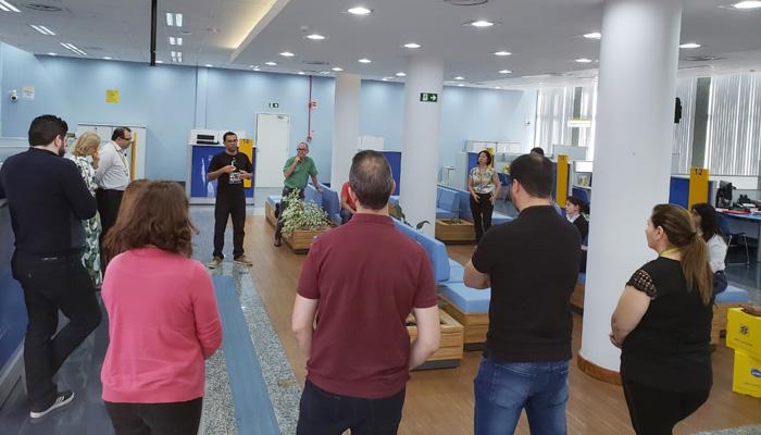 Ivaí Lopes Barroso, diretor do Sindicato de Cornélio Procópio, fez informes aos funcionários sobre o 30º CNFBB