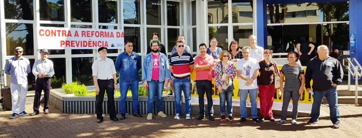A mobilização contra a reforma em Apucarana reuniu 11 entidades