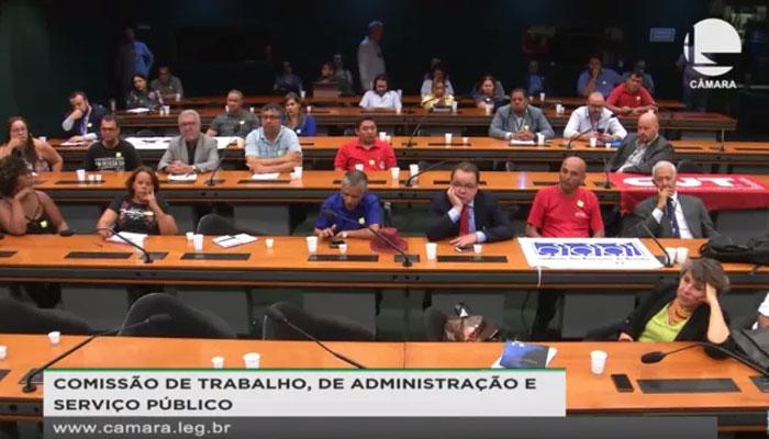 A Contraf-CUT e outras entidades sindicais participaram da Audiência Pública promovida pela CTASP
