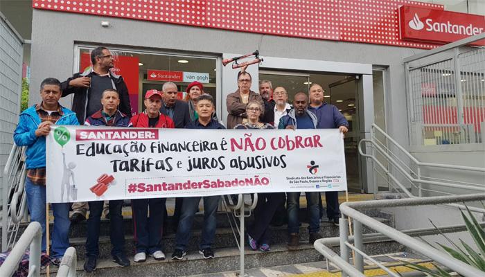 Ações dos Sindicatos minaram o trabalho aos sábados no Santander