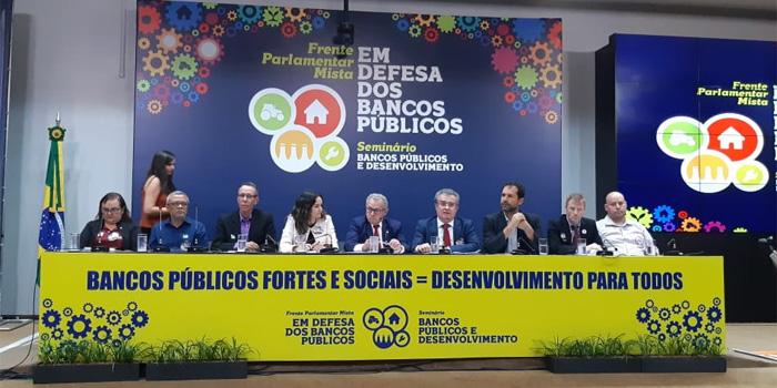 O objetivo da Frente é mobilizar a sociedade  e combater a venda das instituições financeiras responsáveis pelo desenvolvimento do País