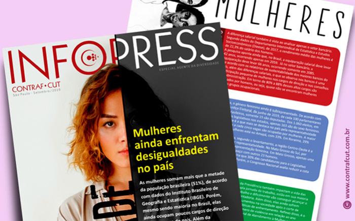 Contraf-CUT disponibiliza InfoPress Mulheres