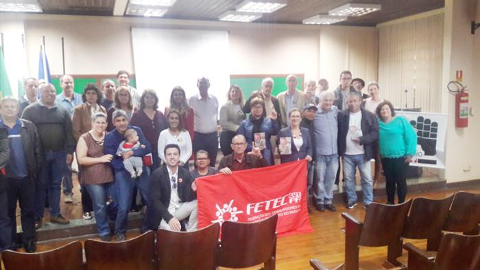 O evento teve a presença de dirigentes sindicais e lideranças do movimento popular de Cornélio Procópio e Região