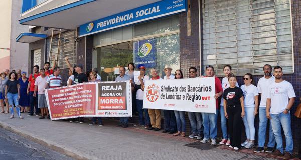 O Sindicato participou do protesto contra a reforma da Previdência