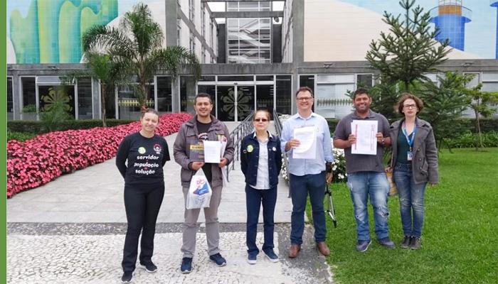 Representantes do Comitê protocolaram o Manifesto junto à Prefeitura de Curitiba
