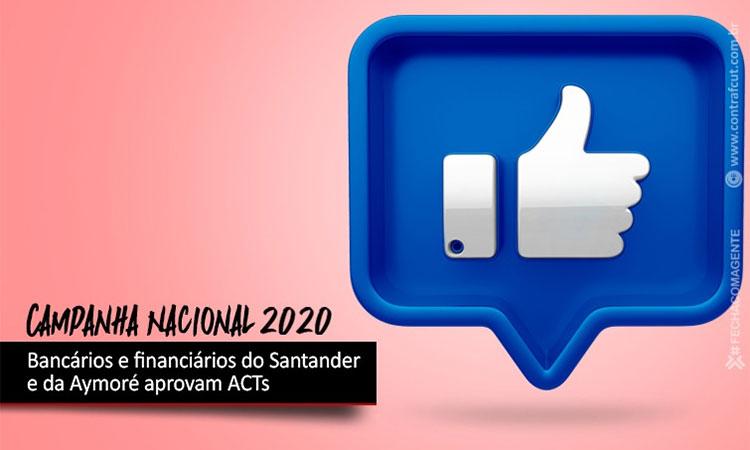 Funcionári@s do Santander e da Aymoré aprovam ACTs