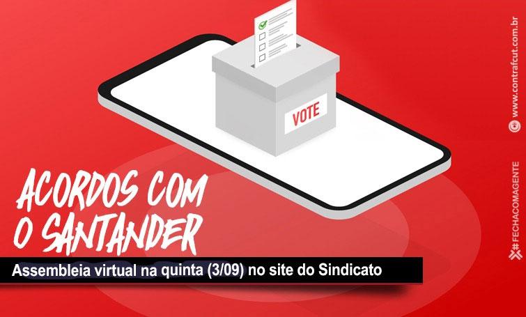 Assembleia d@s funcionári@s do Santander analisa propostas do Banco de Horas Negativas e PLR